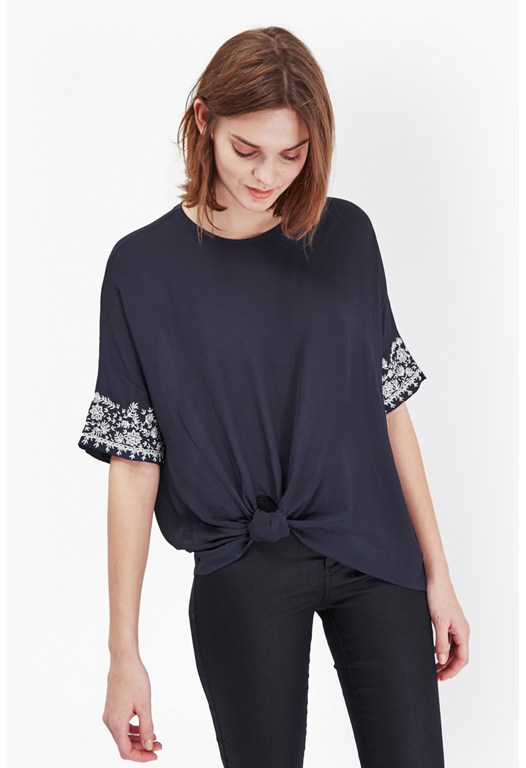 Jasmine Knot Detail Top