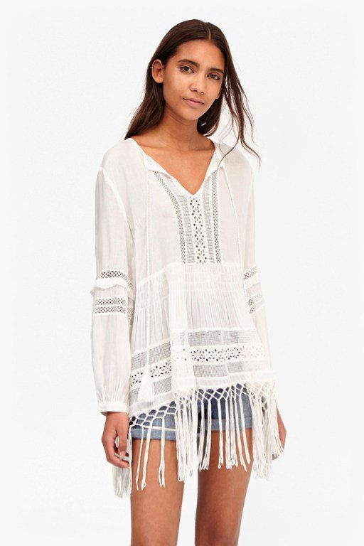 Lola Lace Fringed Top