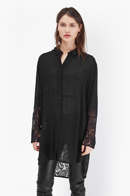Taza Lace Oversized Shirt