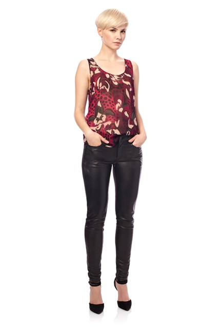 Wild Fire Georgette  Top