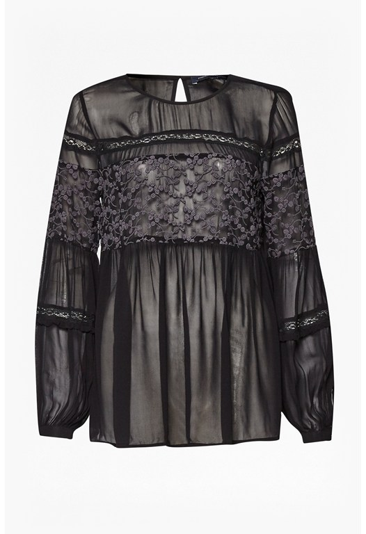 Lilie Lace Sheer Blouse