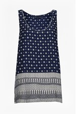 Looks Great With Castaway Drape Print Mix Vest