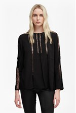 Looks Great With Polly Plains Lace Insert Blouse