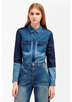 Koh Cotton Patchwork Denim Shirt