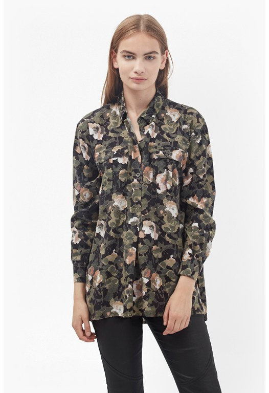 Adeline Dream Camo Oversized Shirt