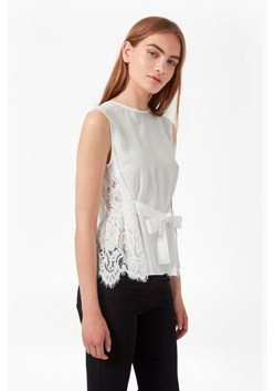 Midnight Plains Tie Up Lace Top