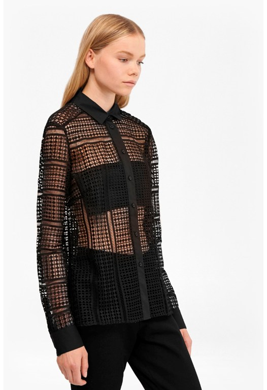 Summer Cage Laser Cut Shirt