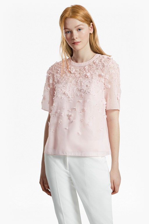 Agnes Floral Applique Top