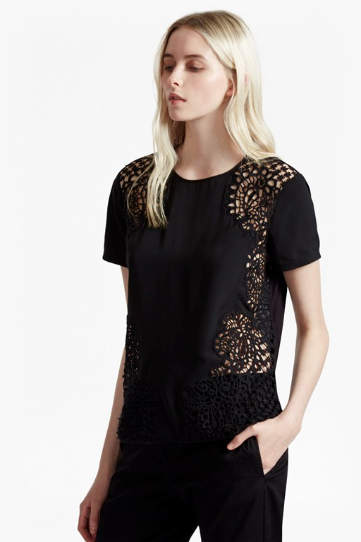 Gilly Lace Jersey Back Top