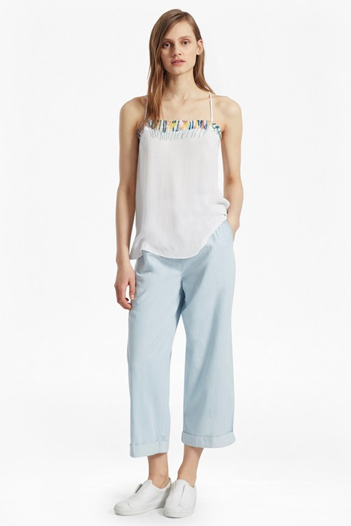 Melissa Cotton Embroidered Cami Top