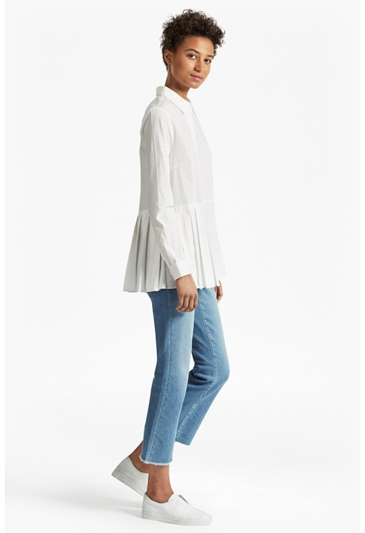 Serge Belle Cotton Pleat Shirt