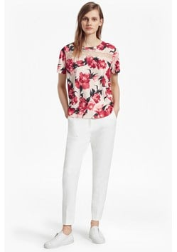 Allegro Poppy Lace Crepe Top