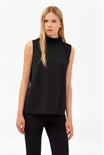 Looks Great With Crepe Light Mock Neck Top