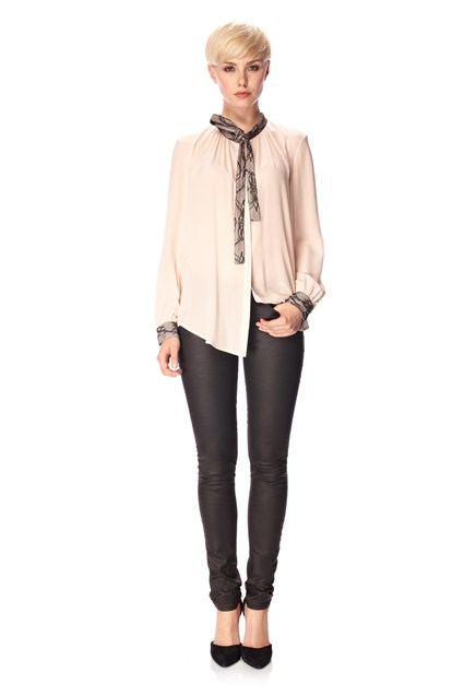 Lucy Lace Tie Neck Shirt
