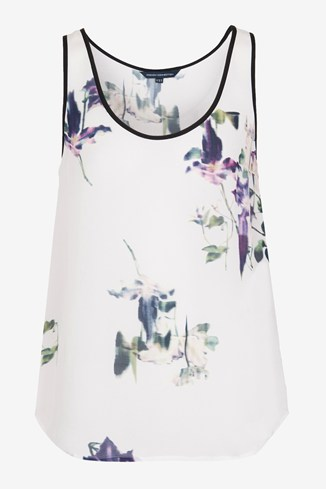 Water Flower Draped Vest Top