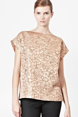 Blousy Bloom Jacquard Top