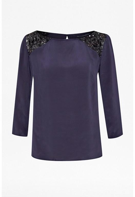 Lace Shoulder Tunic Top