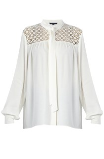 Crazy Daisy Tie Neck Top