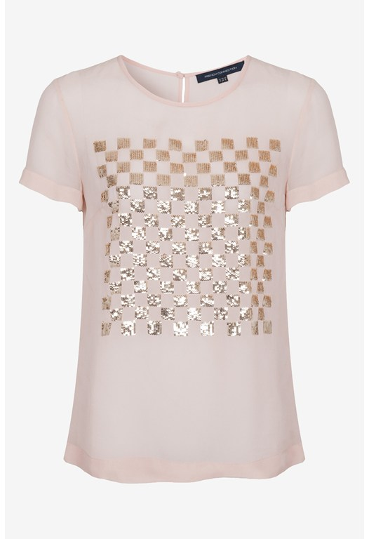 Check Mate Sequinned Top