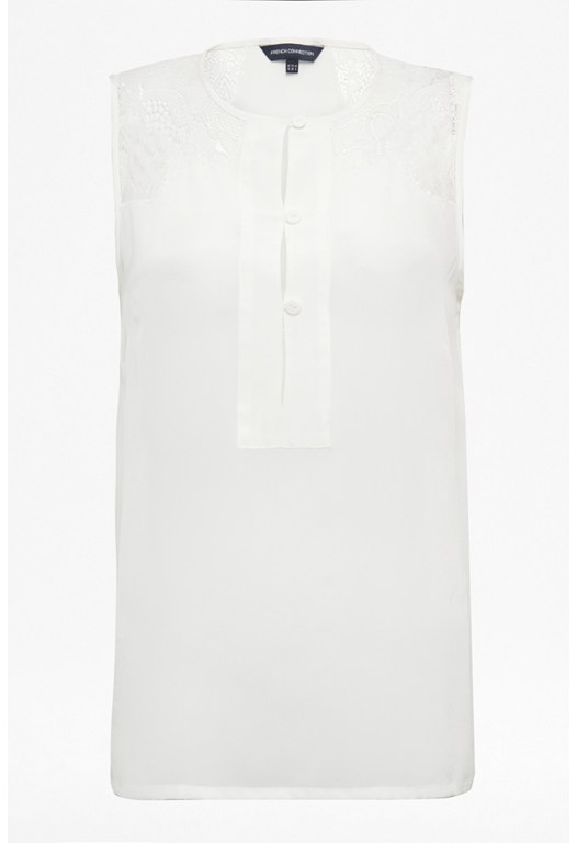 Lustre Lace Silk Top