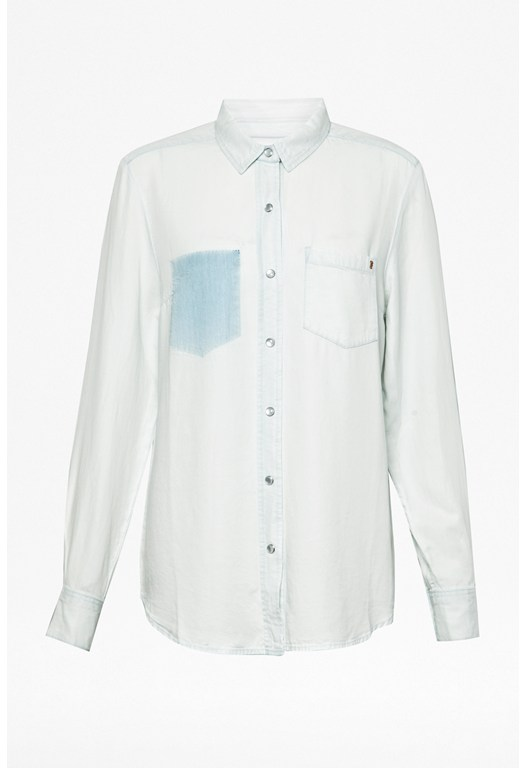 Dolly Drape Denim Shirt
