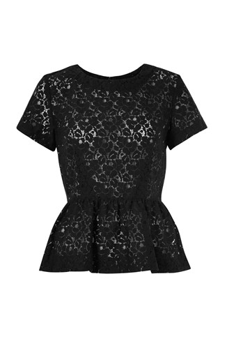 Mykas Lace Peplum Top