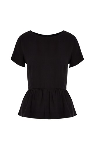 Peppi Crepe Peplum Top