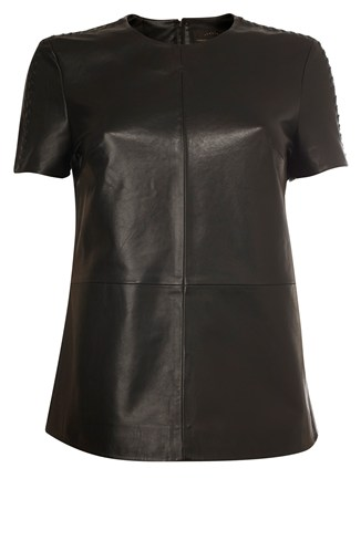 Navajoe Leather Top