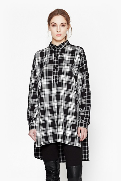 lakeside checked oversized shirt