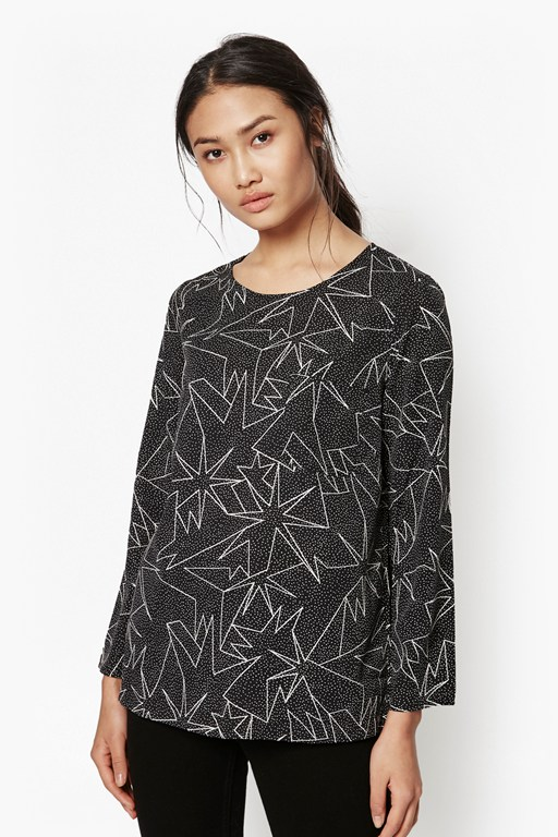 supernova stars printed blouse