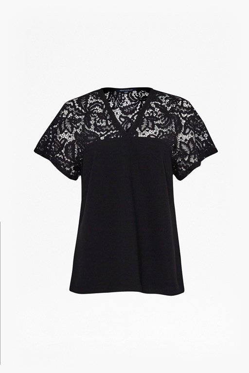 aro crepe lace top