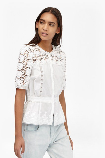 Alba Lace Fitted Shirt