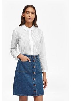 Dotty Sheer Scalloped Edging Shirt