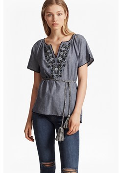 Helena Stitch Embroidered Waist Tie Top