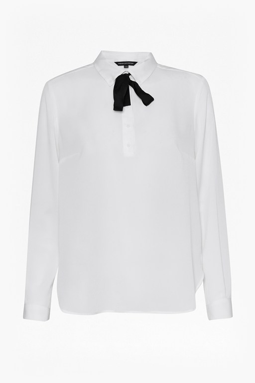 Complete the Look Polly Plains Tie Neck Shirt