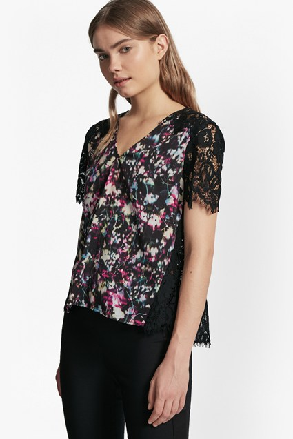 Midnight Bloom Plains Lace Top