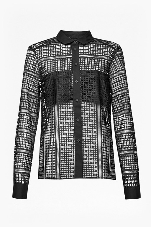 Complete the Look Summer Cage Laser Cut Shirt