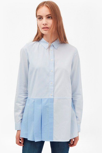 Serge Stripe Pleat Shirt