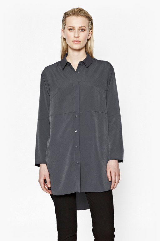 samantha crepe oversized shirt