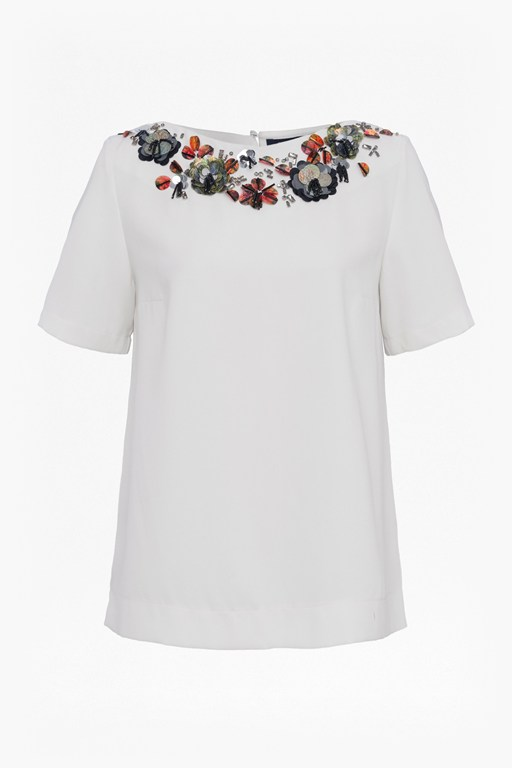 Complete the Look Ernest Floral Embellished Top