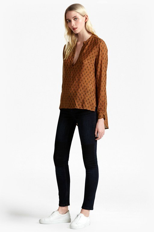 rossine voile stepped back shirt