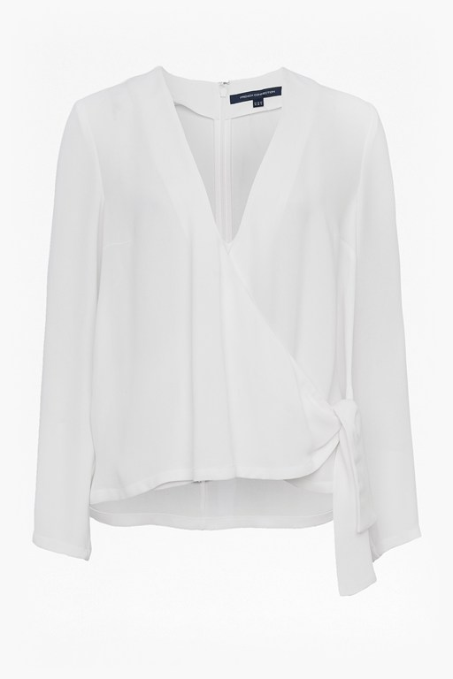 Complete the Look Ducham Drape Wrapover Blouse