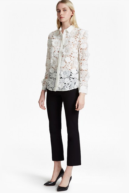 ed068f61d1b Shoptagr   Manzoni 3 D Floral Lace Shirt by French Connection
