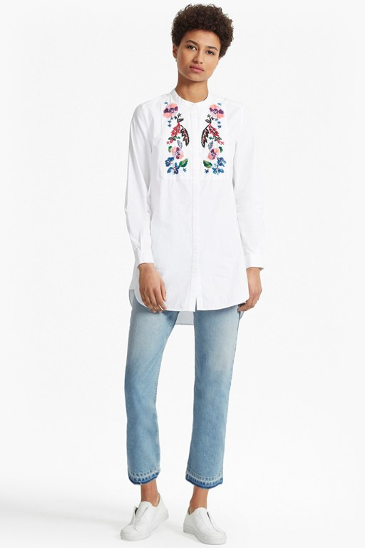 Complete the Look Rothko Cotton Embroidered Shirt