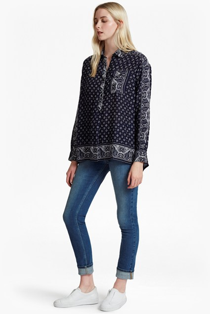 Altman Voile Oversized Pullover Shirt