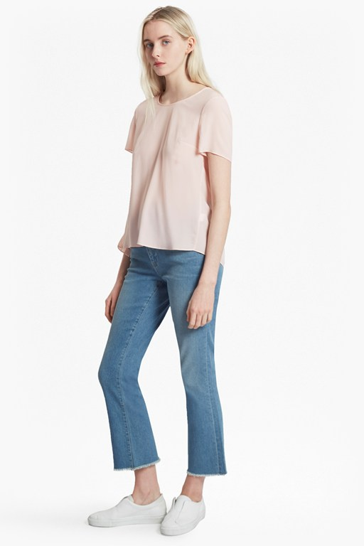 Classic Crepe Light Pleated Back Top