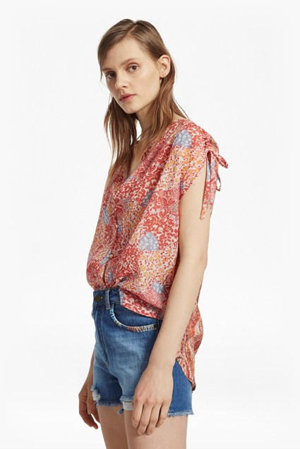 Malika Sheer Paisley Top