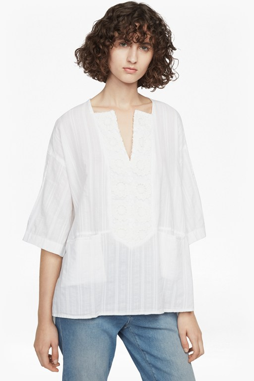 oni cotton embroidered blouse