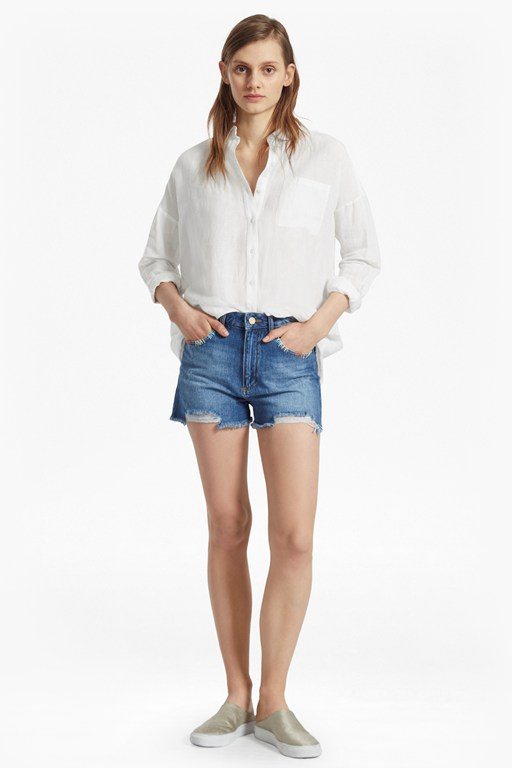 summer ramie oversized linen shirt