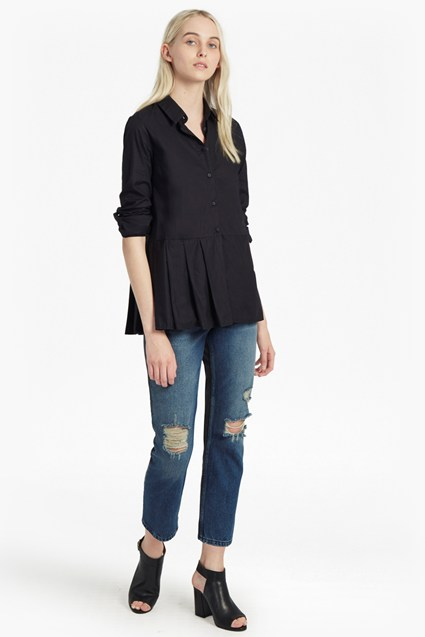 Serge Belle Cotton Pleated Shirt